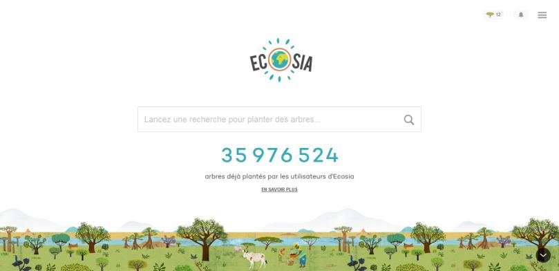 Ecosia sans objets et sans déchets